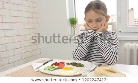 Kid девушки нет аппетит иллюстрация девочку Сток-фото © lenm