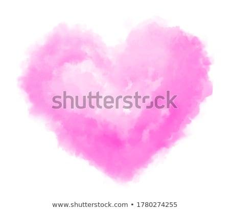 Suluboya kalp şekli örnek vektör kırmızı Stok fotoğraf © orson