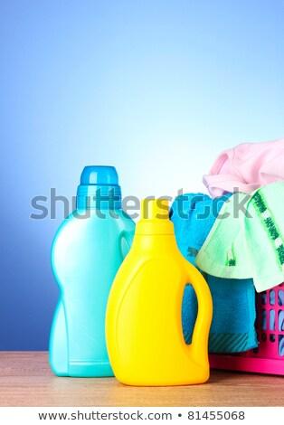 witte · plastic · fles · wasmiddel · geïsoleerd · chemische - stockfoto © Cipariss