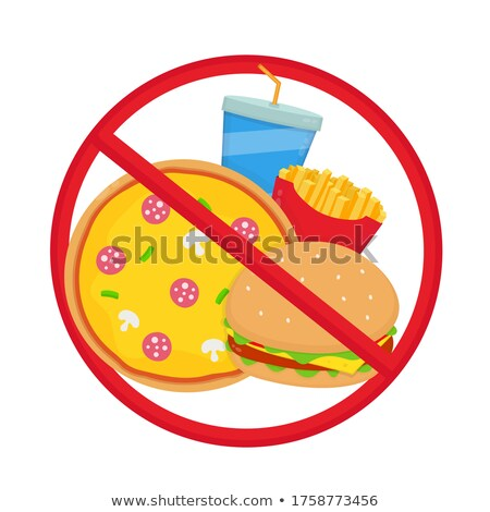 no burger and fries concept illustration design Stock photo © alexmillos