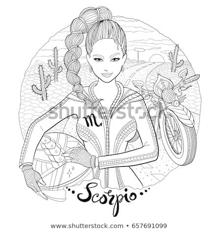 imzalamak · renk · star - stok fotoğraf © sonya_illustrations