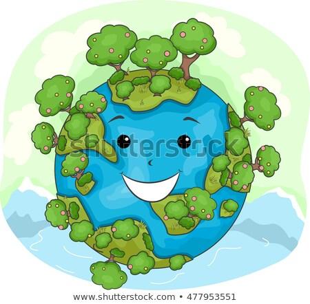 Mascot Earth Nature Happy Stock photo © lenm