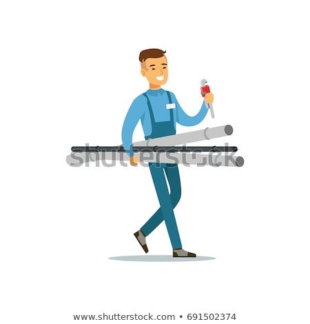 Cartoon Character Plumber or Mechanic Stock photo © Krisdog