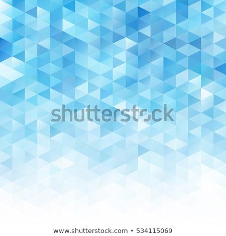 Digitale abstract mosaico azzurro texture sfondo Foto d'archivio © ExpressVectors