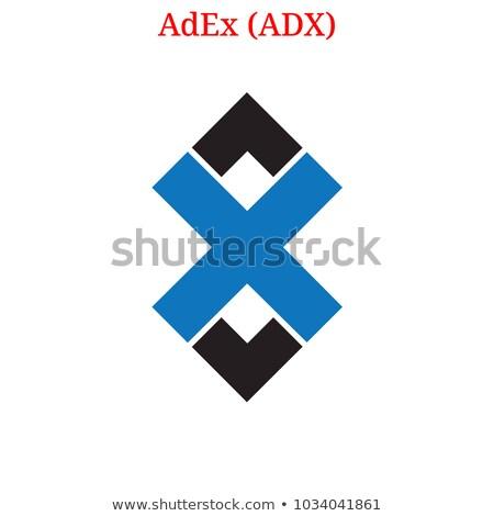 vektor · színes · logo · digitális · valuta · ikon - stock fotó © tashatuvango