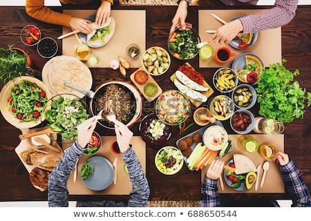 ブドウ · 休日 · 食品 · 表 - ストックフォト © yuliyagontar