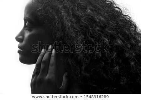 портрет заманчивый коричневый женщину ярко Сток-фото © deandrobot