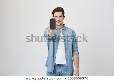 ストックフォト: ビジネスマン · を見る · 携帯電話 · ビジネス · 男