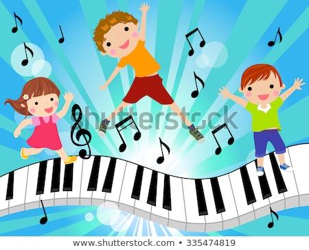 Piano teclado vector Cartoon ilustración aislado Foto stock © RAStudio