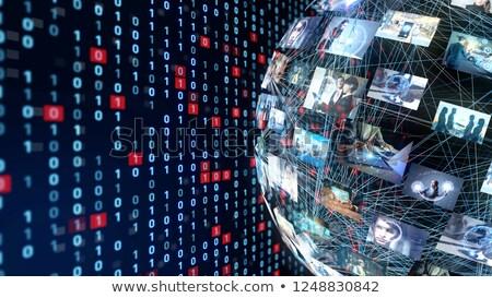 Bináris kód technológia internet absztrakt háttér tudomány Stock fotó © SArts