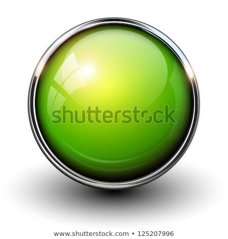 Green round button with next sign Stock photo © studioworkstock