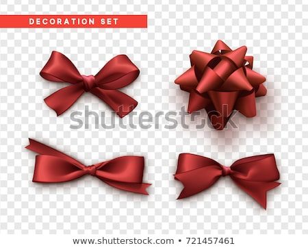 Rojo elegante raso cinta aislado icono Foto stock © studioworkstock