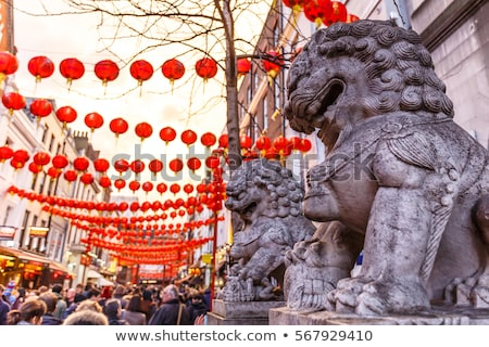 Lanterns in chinatown, London Stock photo © IS2