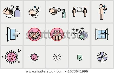 19 iconen vector ingesteld medische Stockfoto © sidmay