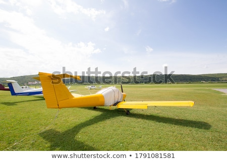 Aircraft stationary on runway Stock photo © IS2