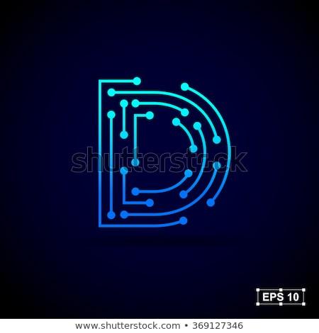 Lettera d logo design modello lettera futuro clean Foto d'archivio © taufik_al_amin
