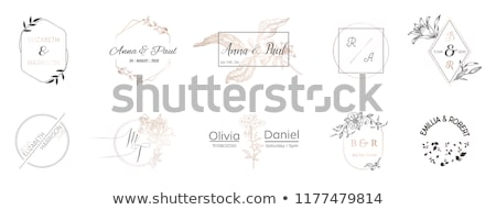 Minimalist floral frames collection Stock photo © orson