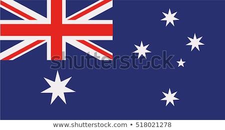 Australien Flagge weiß Kreuz malen Sternen Stock foto © butenkow