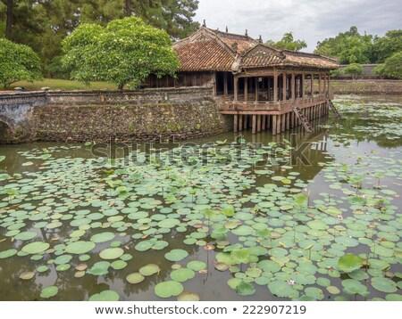 Stockfoto: Vietnam · oude · tuin · binnenkant · verboden · stad · complex