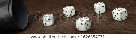 Wooden dice, 3d illustration. Stock photo © kup1984