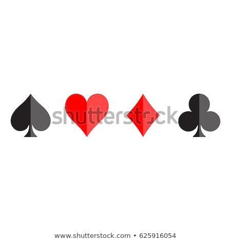 vector illustration on a casino theme with playing suit and poker cards on red background gambling stock photo © articular