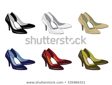 female red boots isolated womens shoes vector illustration stock photo © popaukropa