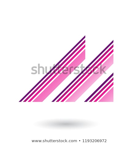 Magenta Letter M with Diagonal Retro Stripes Vector Illustration Stock photo © cidepix