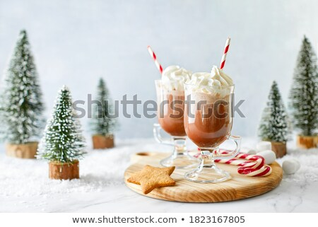 Mug of cacao with whipped cream Stock photo © dash