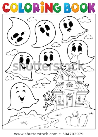 Stockfoto: Haunted House With Ghosts Theme 4
