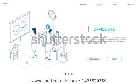 Időbeosztás modern izometrikus vektor háló szalag Stock fotó © Decorwithme