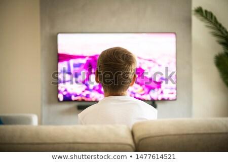 üzücü karikatür düz ekran tv örnek televizyon Stok fotoğraf © cthoman