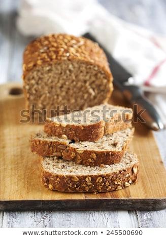 Primo piano tutto grano pane girasole semi Foto d'archivio © dash