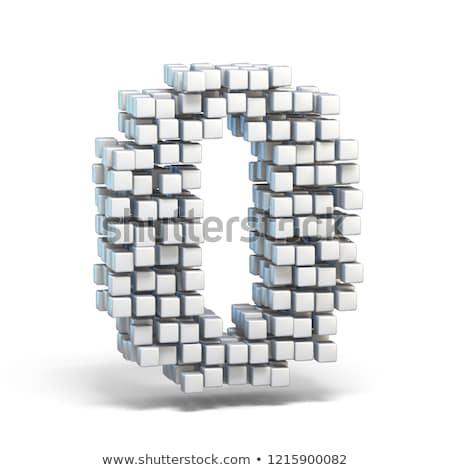 Сток-фото: белый · шрифт · числа · нулевой · 3D