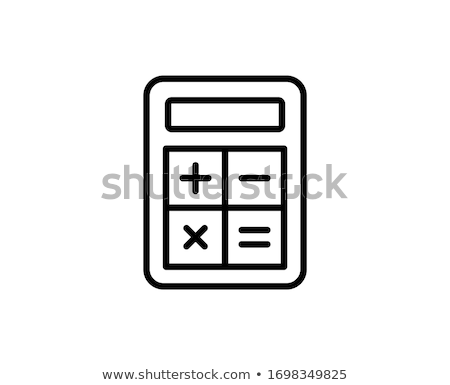 Calculator line icon on a white background vector illustration