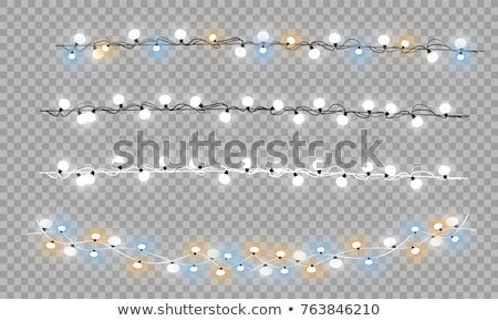 christmas illustration with glowing colorful lights garland for xmas holiday and happy new year gree stock photo © articular