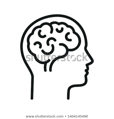 vector human brain icons  Stock photo © freesoulproduction