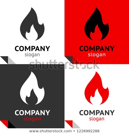 Fire flames new set, four variants for your logo stock photo © Ecelop