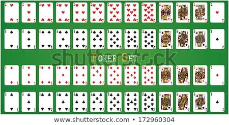 poker · iskambil · kartları · tok · güverte · yeşil · ayrı - stok fotoğraf © krisdog