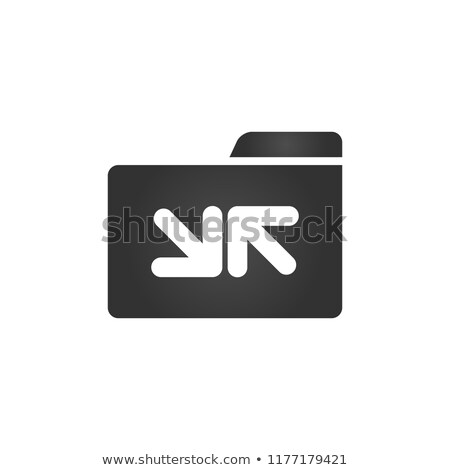 Folder Icon sync arrrows in trendy flat style isolated on white background, for your web site design Stock photo © kyryloff