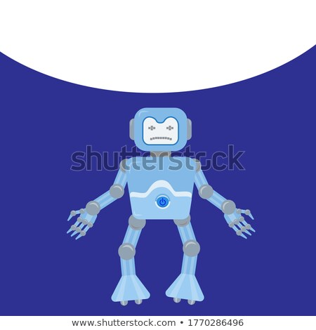 Cartoon Sad Spaceman Robot Stock photo © cthoman