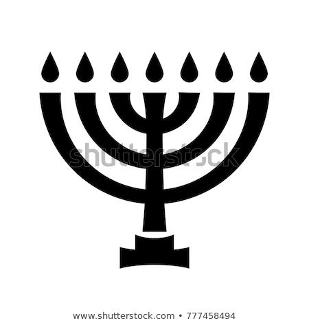 menorah ancient hebrew sacred seven candleholder stock photo © glasaigh