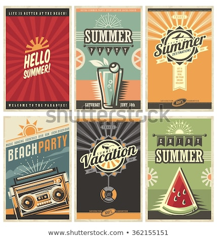 Summertime retro poster Stock photo © abdulsatarid