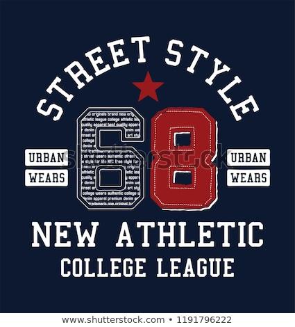 Foto stock: Baseball T Shirt Print Fashion Typography Stamp Vector