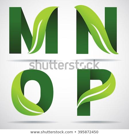 letter o green leaf logo icon element Stock photo © blaskorizov