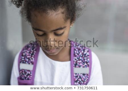 プライマリー 学生 外 学校 立って 悲しい ストックフォト © Lopolo