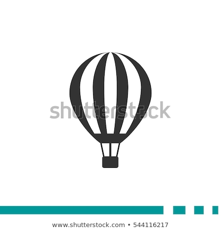 hot air balloon vector sky travel icon flight transport retro old vintage aerostat isolated flat stock photo © pikepicture