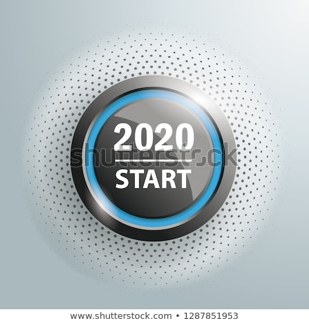 Button 2020 Start Halftone Stock photo © limbi007