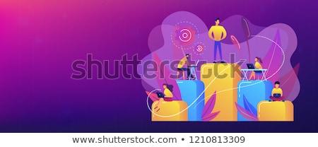 corporativo · hierarquia · traçar · pessoas · negócio · árvore - foto stock © rastudio