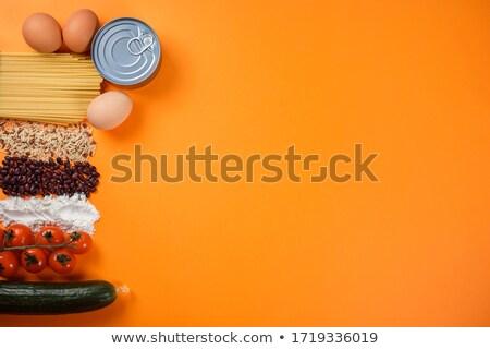 保存 食品 バナー オレンジ 胡瓜 野菜 ストックフォト © robuart