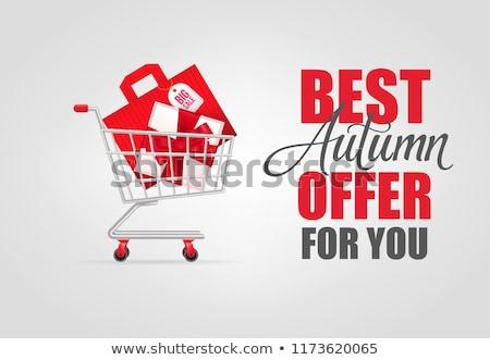 Ajándékdobozok bevásárlókocsi ajándékok akció exkluzív termékek Stock fotó © robuart
